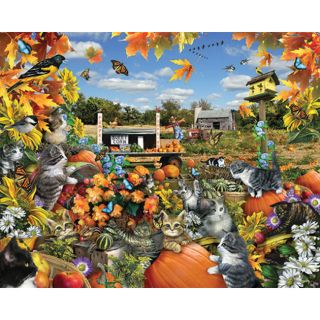 Autumn Kitties 550 piece Jigsaw Puzzle