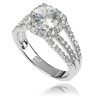 Tressa Collection Sterling Silver CZ Bridal style Ring