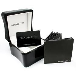 Raphael Leon Mens Black Dial Diamond Watch