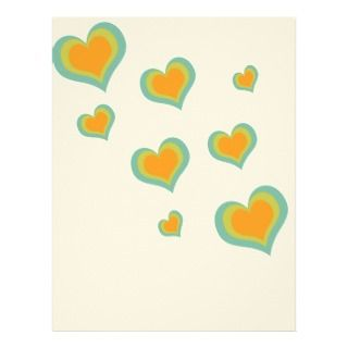 Love Hearts for Valentines Day Personalized Letterhead
