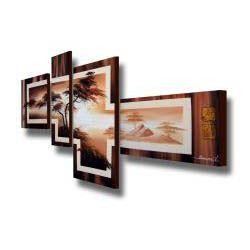 Above the Mountain 4 piece Gallery wrapped Canvas Art Set
