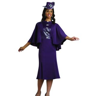 Lisa Rene Womens Purple Cape Buckle Evening Dress