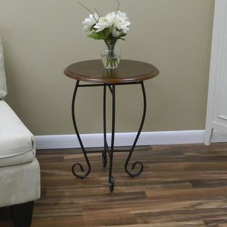 Veronica Chestnut/ Black Side Table