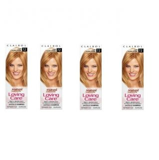 Clairol Loving Care #72 Light Golden Blonde Hair Color (Pack of 4