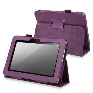 BasAcc Purple Leather Case with Stand for  Kindle Fire HD 7 inch