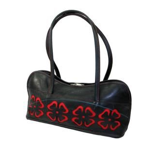 Recycled Tires Cut out Flower Shoulder Bag (India)