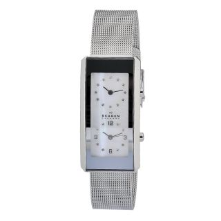 Skagen Womens Rectangular Dual time Watch