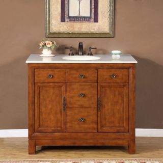 Silkroad Exclusive Natural Stone Countertop Lavatory Single Sink
