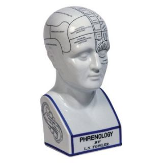 Authentic Models 11.5H in. Phrenology Head Sculpture   Sculptures