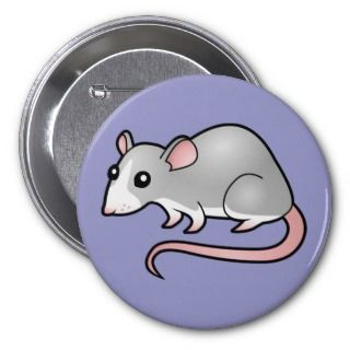 Cartoon Rat (silver blaze) buttons by SugarVsSpice