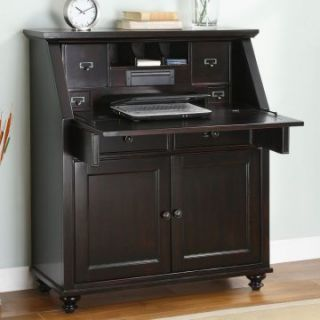 Whalen Hampton Bay Drop Lid Secretary Desk   Computer Armoires at