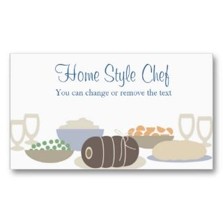 beef roast dinner homestyle cooking business cabusiness card