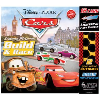 Disney Pixar Cars Lightning McQueen Build & Race Book Kit