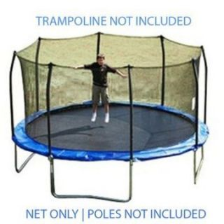 15 ft. Trampoline Net attaches with Straps for 8 Straight Curved Poles