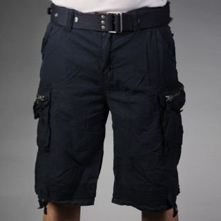 Laguna Beach Jean Company Mens Hermosa Beach Navy Belted Cargo Shorts