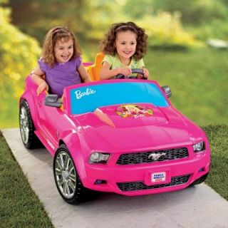 Fisher Price Battery Powered Barbie Ford Mustang   Battery Powered