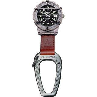 Dakota Mens Phase III Carabiner Clip Watch