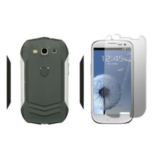 Samsung Galaxy S III I747 / I9300 Autobahns Case Gray/ White Trim