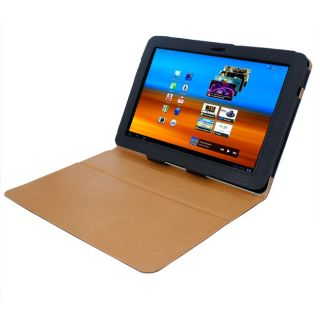 SKQUE Samsung Galaxy Tab 10.1 Black Leather Case
