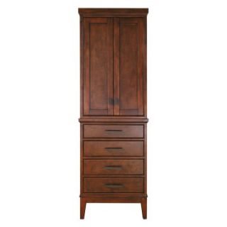 Avanity Madison 24 in. Tobacco Linen Tower   Bathroom Cabinets at