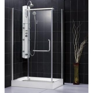 DreamLine Panorama 37x76 inch Clear Glass Shower Enclosure