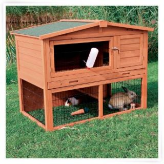 Outdoor rabbit hutch on popscreen for Outdoor rabbit hutch kits