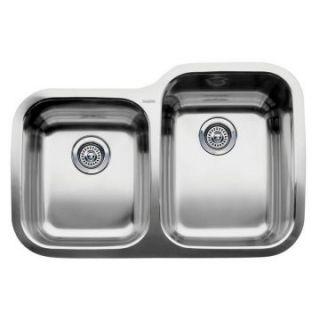 Blanco Supreme MicroEdge 1 and 3/4 Reverse Bowl Kitchen Sink   Kitchen