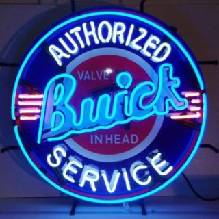 Buick Neon Sign with Silkscreen Backing   Signs
