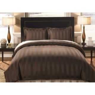 Divatex Home Fashions Woven Dobby Strip Bedding Set   Duvet Covers at