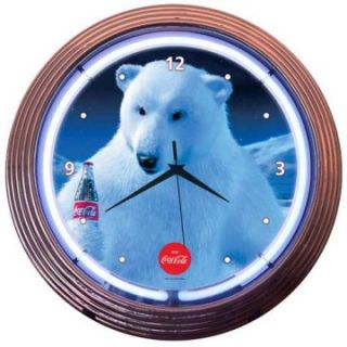 Coca Cola® Polar Bear Neon Clock