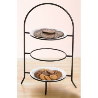 Creative Home Iron Works 3 Tier Dinner Plate Rack   Storage Containers