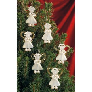 White Pearl Precious Angels Holiday Beaded Ornament Kit