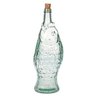 Global Amici Pesce Recycled Glass Bottle   Set of 2   Cookie Jars at