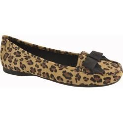 Womens Anne Klein Krantz Black Multi Leopard
