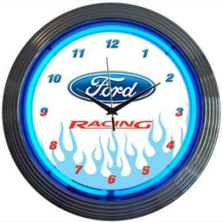 Neonetics Ford Racing Neon Clock   Clocks
