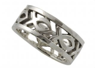 Sterling Silver Christian Faith Band