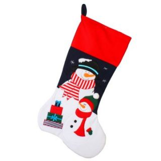 36 in. Jumbo Applique Snowman Stocking   Christmas Stockings at