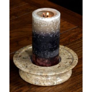 Fossil Stone 3 Tier Candle Holder   Candle Holders