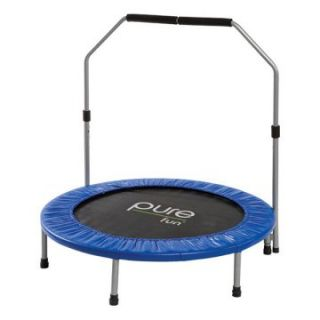 Pure Fun 40 in. Mini Trampoline with Hand Rail   Fitness Accessories