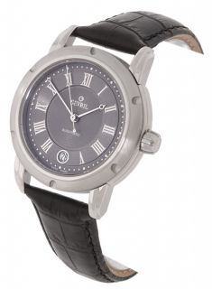 Gevril First Generation Mens Black Strap Watch