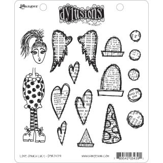 Dyan Reaveleys Dylusions Cling Stamp Collection Love Struck Lucy
