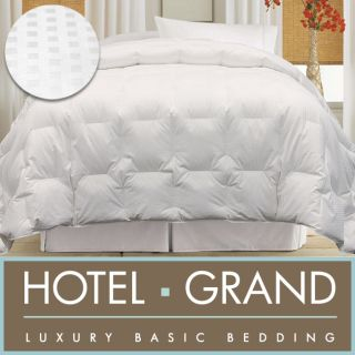 Hotel Grand Egyptian Cotton 600 Thread Count Damask Check White Goose