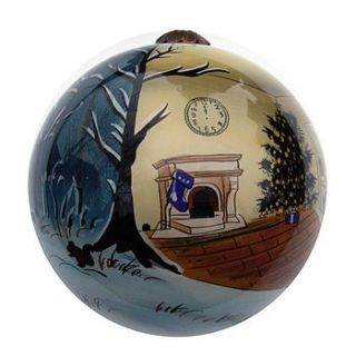 hand painted christmas tree decoration by tom martin london