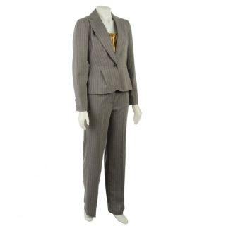 Nine West 3 piece Multi Stripe Pant Suit with Camisole