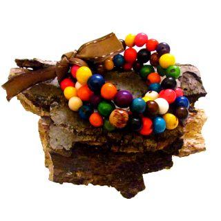 Multicolor 3 strand Colombiana Bracelet (Colombia)