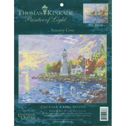 Thomas Kinkade Serenity Cove Counted Cross Stitch Kit 14X10 14 Count