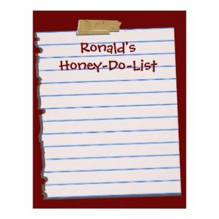 Honey Do List Letterhead Stationery