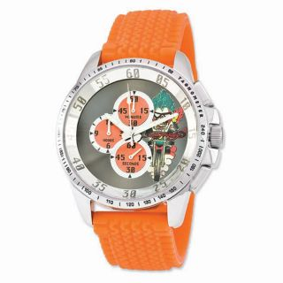 Ed Hardy Mens Dragster Orange Strap Watch