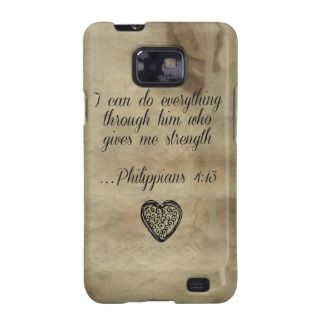 Bible Verse Philippians 4:13 Galaxy SII Cases