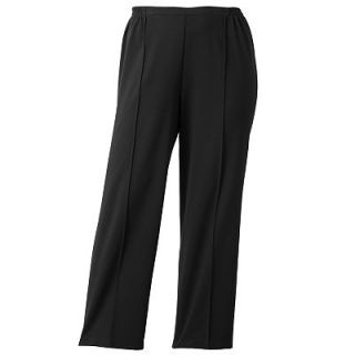 Cathy Daniels Straight Leg Pull On Ponte Pants   Womens Plus